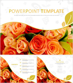 Bouquet of Scarlet Flower - Free Powerpoint Sample_00