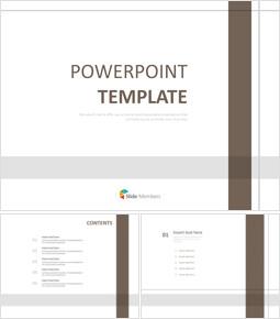 갈색과 회색 체크 라인 - 무료 PowerPoint 템플릿 디자인_00