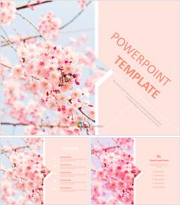 벚꽃 - 무료 프리젠테이션 템플릿_00