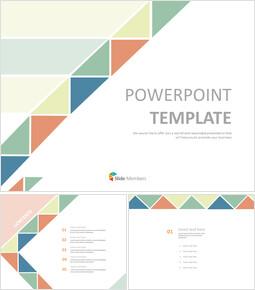 따뜻한색 삼각형 패턴 - 무료 PowerPoint 템플릿_00
