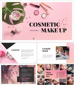 Cosmetic & Makeup PowerPoint Templates Design_00