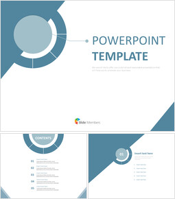 Dark blue Handles - Free Presentation Templates_6 slides
