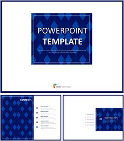 Dark blue Patterns With Squared Outline - Free Template Design_6 slides