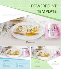 맛있는 브런치 - 무료 PowerPoint 템플릿 디자인_00