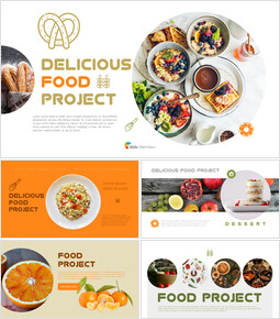 Delicious food project PowerPoint Templates_00