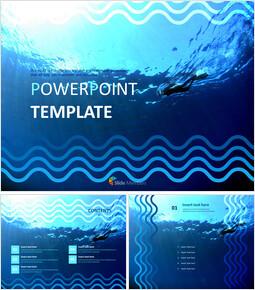 바다 속 다이빙 - 무료 PowerPoint 템플릿_00
