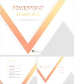 Free Design Template - Inverted Triangle Gradated With Orange and Yellow and Gray Triangle_00