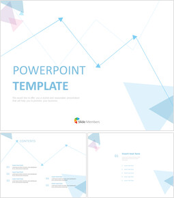 Free Powerpoint Sample - Pastel blue and Pink Triangle and Lines_6 slides
