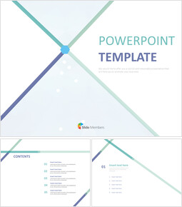 Free Powerpoint Template - blue Lines and Hexagonal Snowflake_6 slides