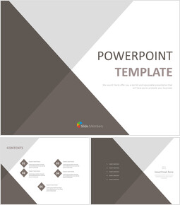 Free Powerpoint Template - Triangle Border Gradated With Gray_00