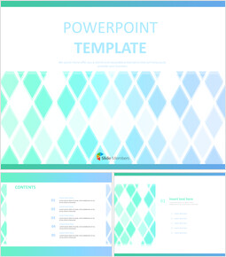 Free Powerpoint Templates Design - Checkered Gradation With Neon Yellowgreen and blue_6 slides