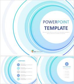 무료 PowerPoint 템플릿 디자인 - 블루  그라데이션 원_00
