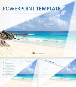 무료 PowerPoint 템플릿 디자인 - 멋진 해변_00