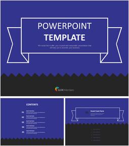 무료 PowerPoint 템플릿 디자인 - 지그재그와 어두운 파란색과 검정색 배경_00