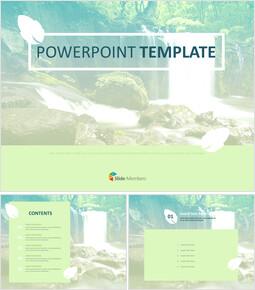 무료 PowerPoint 템플릿 디자인 - 계곡_00
