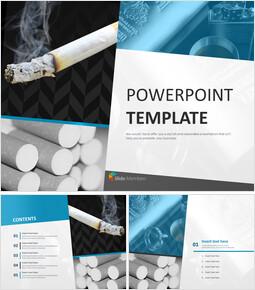 무료 PowerPoint 템플릿 디자인 - 흡연과 건강_00