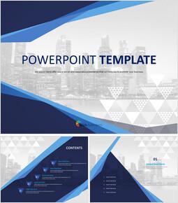무료 PowerPoint 템플릿 디자인 - 화려한 도시_00