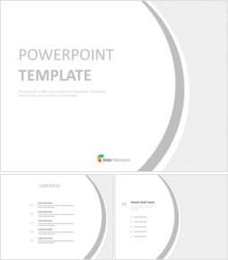 무료 PowerPoint 템플릿 디자인 - 밝은 회색 배경_00
