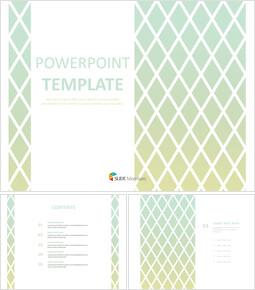 무료 PPT 샘플 - 다이아몬드 무늬 민트 그라데이션 배경_00