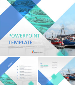 Free PPT Template - A Ship and Fish Market_00