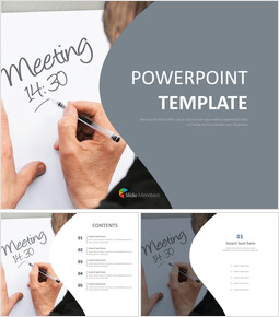 Free PPT Template - Daily Routine of a Employee_00