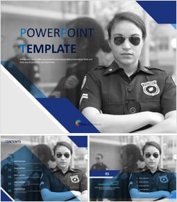 Free PPT Template - female Police Officer_6 slides