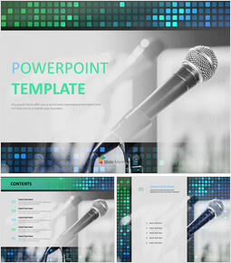 Free PPT Template - Microphone Stand_00