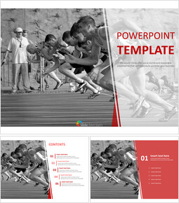 Free PPT Template - Running Toward Gold Medal_00