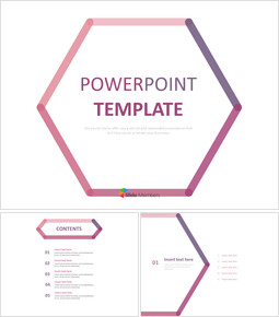 Free Presentation Templates - Hexagon Made of Pink and Purple Lines_00