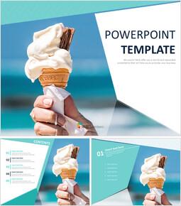Free Presentation Templates - Icecream in Hot summer_6 slides