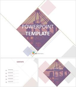무료 템플릿 디자인 - 건축 패턴 라인_00