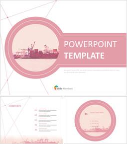 무료 템플릿 디자인 - 선박이미지와 핑크컨셉_00