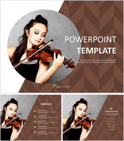 Free Template Design - Violin Performance_00