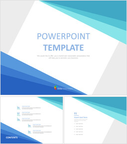 Gradated blue Triangles - Free Powerpoint Sample_6 slides