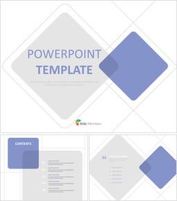그레이와 블루 다이아몬드 - 무료 PowerPoint 템플릿_00