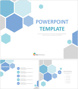 Gray Blue Hexagon - Free PPT Template_00