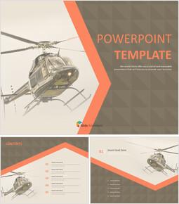 헬리콥터 - 무료 프리젠테이션 템플릿_00
