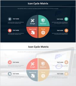 아이콘 사이클 매트릭스 다이어그램_2 slides
