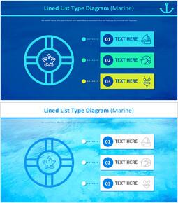 늘어선 목록 유형 다이어그램 (해양)_2 slides