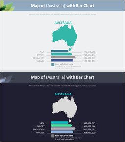 Map of (Australia) with Bar Chart Diagram_00