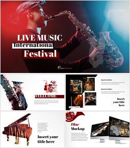 음악 축제 (재즈 및 클래식) 심플한 구글 템플릿_00