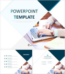 노트북 - 무료 PowerPoint 템플릿_6 slides