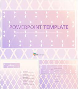 파스텔 퍼플 그라데이션 다이아몬드 패턴 - 무료 프리젠테이션 템플릿_00