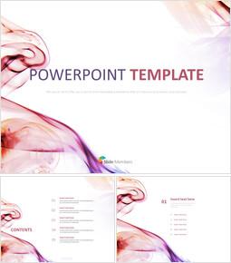 분홍색과 보라색 물결무늬 - 무료 PPT 샘플_00