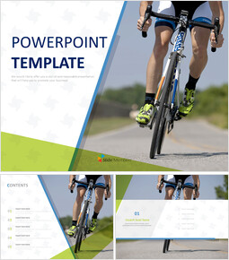 Professional Cyclist - Free PPT Template_00