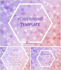 보라색과 분홍색 삼각형 패턴 배경 - 무료 프리젠테이션 템플릿_00
