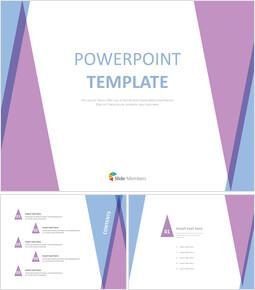 Purple blue Triangle Pattern - Free PPT Template_6 slides