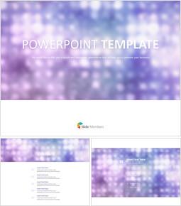 퍼플 팬시 조명 - 무료 PowerPoint 템플릿 디자인_00