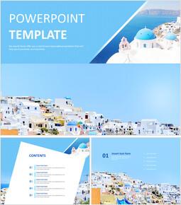 산토리니 섬 - 무료 PowerPoint 템플릿_00