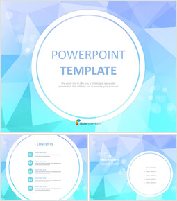 sea-like, Twinkle Colored Triangle With White Circle Outline - Free PPT Template_6 slides